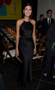 Giovanna Battaglia kept it classy in a fluid black halter gown during Aby Rosen and Samantha Boardman's dinner.