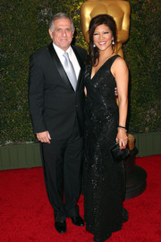 Julie Chen went for subtle sparkle with this beaded black gown during the Governors Awards.