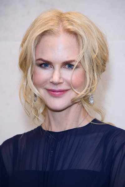 Nicole Kidman got glam with this loose, poofy bun for the Academy of Motion Picture Arts and Sciences new members reception.