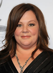 Melissa McCarthy attended the Academy of Television Arts and Sciences' 21st Annual Hall of Fame Gala wearing her hair in sleek, slightly wavy layers.