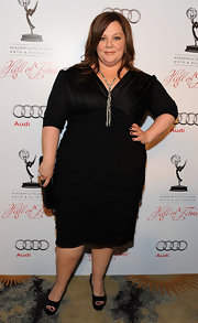 Melissa McCarthy wore this black tiered dress to the Academy of Arts & Sciences' Hall of Fame Gala.