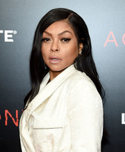 Taraji P. Henson sported a gently wavy, side-parted hairstyle at the New York premiere of 'Acrimony.'