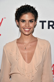 Sara Sampaio got all prettied up with this milkmaid braid for the #ActuallySheCan Short Film Series release.