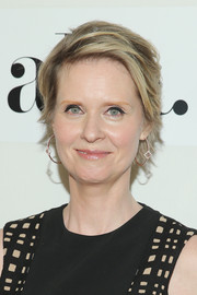 Cynthia Nixon attended the 'Adderall Diaries' premiere wearing her trademark short layers.