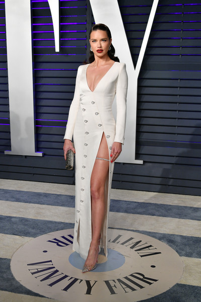 Adriana Lima Form-Fitting Dress [clothing,white,fashion model,dress,fashion,shoulder,formal wear,neck,haute couture,gown,radhika jones - arrivals,radhika jones,adriana lima,beverly hills,california,wallis annenberg center for the performing arts,oscar party,vanity fair,adriana lima,91st academy awards,oscar party,model,academy awards,beverly hills,dolby theatre,actor,photograph]