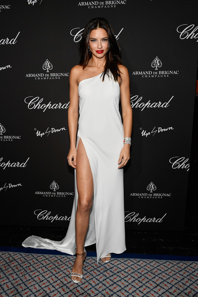 Adriana Lima One Shoulder Dress