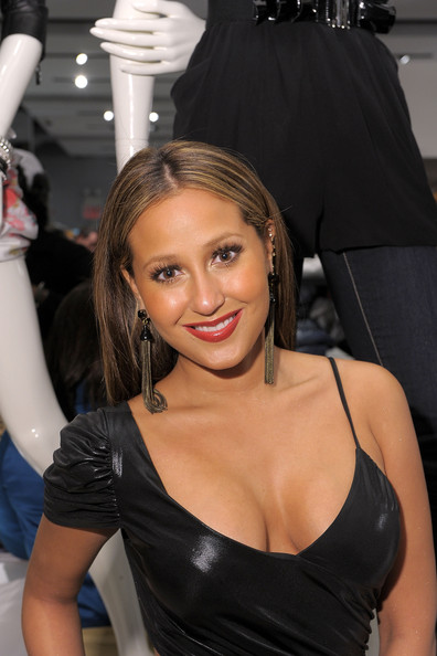 Adrienne Bailon Dangling Chain Earrings