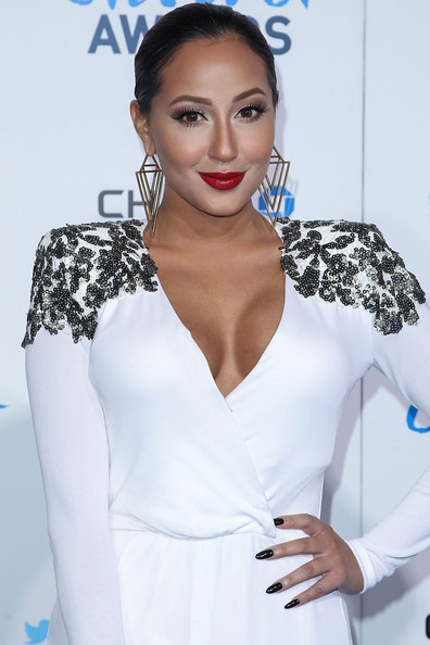 Adrienne Bailon Dark Nail Polish
