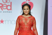 Adrienne Bailon Sheer Dress