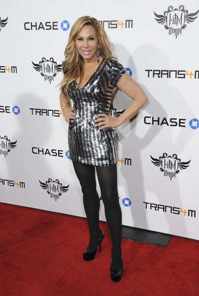 Adrienne Maloof Platform Pumps [clothing,carpet,red carpet,footwear,joint,tights,dress,leg,premiere,flooring,adrienne maloof,trans4m concert benefitting i.am.angel foundation - red carpet,california,hollywood,will.i.am]