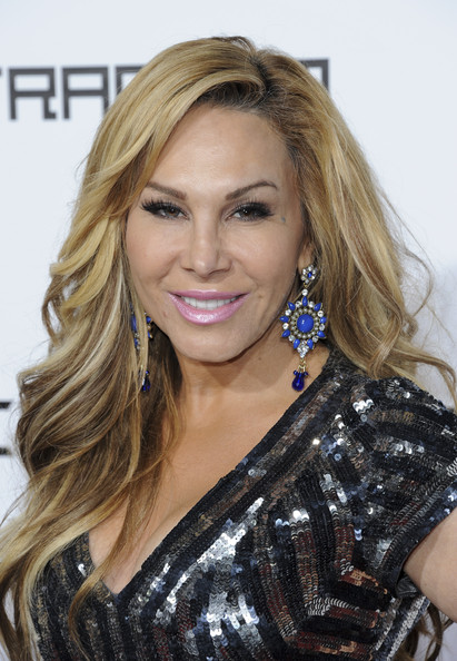 Adrienne Maloof Long Wavy Cut [hair,face,blond,hairstyle,eyebrow,beauty,long hair,brown hair,layered hair,chin,adrienne maloof,trans4m concert benefitting i.am.angel foundation - red carpet,california,hollywood,will.i.am]