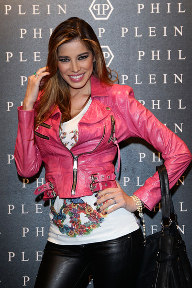 Aida Yespica Leather Jacket