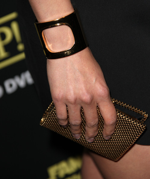 Aimee Garcia Cuff Bracelet [family guy: its a trap,wrist,nail,finger,fashion,hand,fashion accessory,jewellery,footwear,bracelet,leg,aimee garcia,seth macfarlane,arrivals,california,los angeles,supperclub,dvd release party,dvd release party]