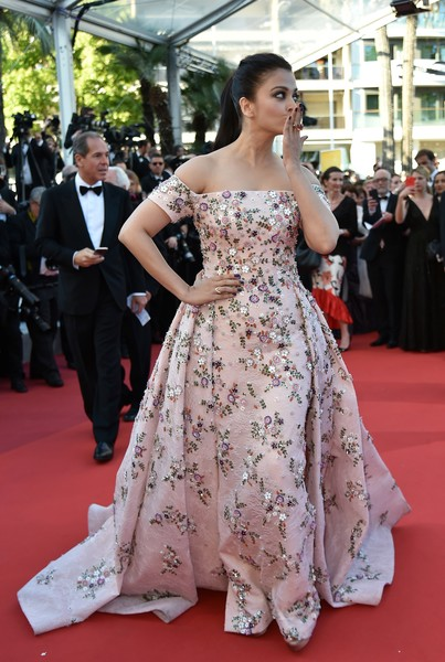 Aishwarya Rai Off-the-Shoulder Dress