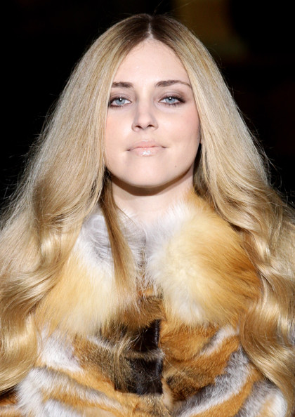 More Pics of Chiara Ferragni Beige Lipstick (4 of 4) - Makeup Lookbook - StyleBistro [hair,blond,hairstyle,long hair,hair coloring,fur clothing,fur,eyebrow,beauty,layered hair,alberta ferretti,pitti immagine uomo 79,chiara ferragni,show during,pitti immagine uomo,italy,florence]