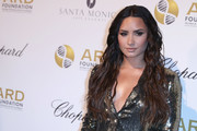 Demi Lovato made an appearance at the ARF Foundation's A Brazilian Night benefit wearing her hair in loose, piecey waves.