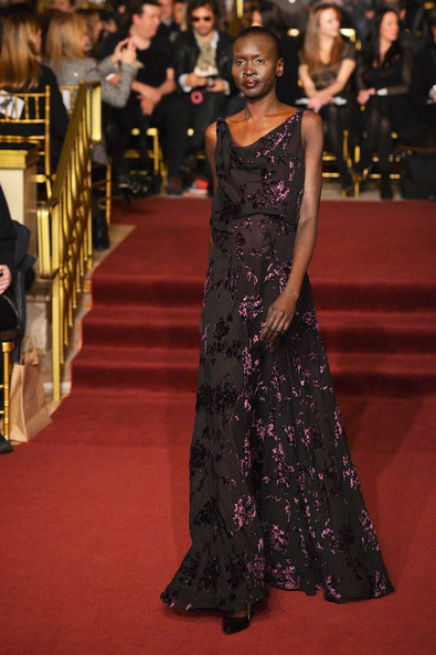 Alek Wek Evening Dress