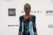 Alek Wek Leather Clutch