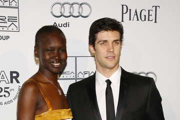 Alek Wek Roberto Bolle 2nd Annual amfAR Inspiration Gala New York - Arrivals