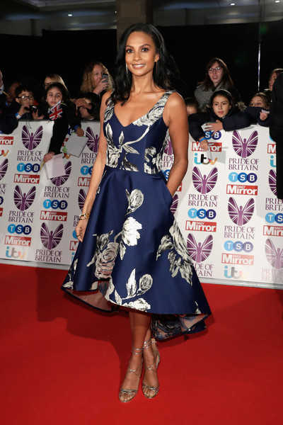 Alesha Dixon Print Dress