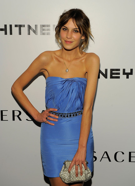 Alexa Chung Cameo Pendant Necklace [clothing,dress,cocktail dress,shoulder,cobalt blue,strapless dress,fashion model,electric blue,hairstyle,fashion,arrivals,alexa chung,whitney museum,new york city,whitney museum gala]