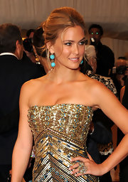 Bar Refaeli paired her sequin adorned gown with an equally stunning cocktail ring.
