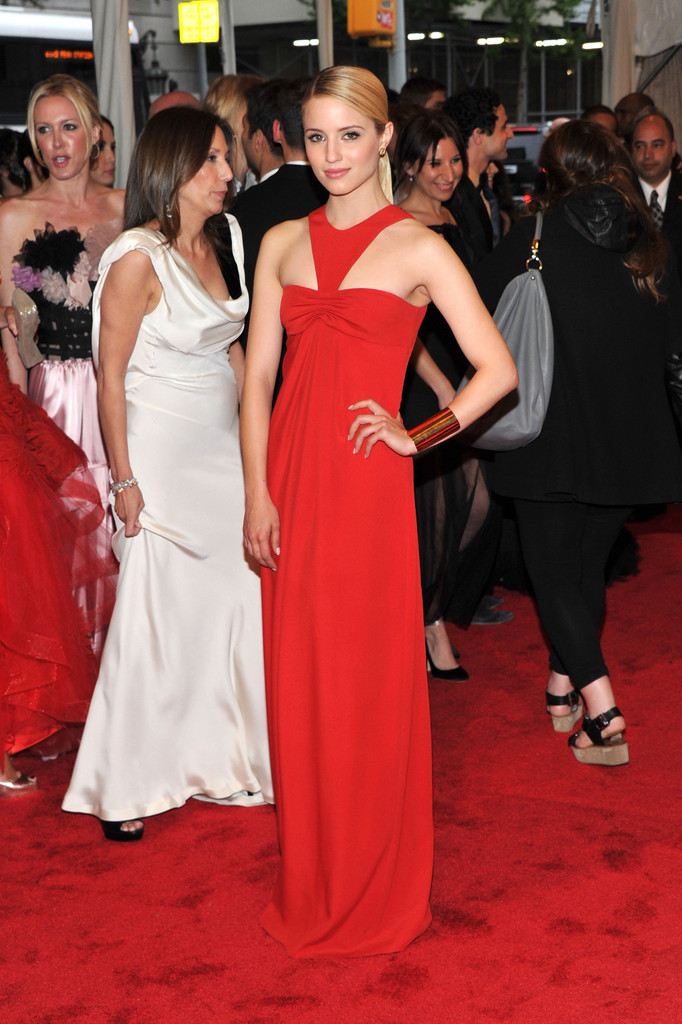 "Actress Dianna Agron attends the ""Alexander McQueen: Savage Beauty"" Costume Institute Gala at The Metropolitan Museum of Art on May 2, 2011 in New York City."