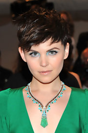 Ginnifer Goodwin was a bright eyed beauty at the 2011 Met Gala. The actress complemented her emerald green frock with electric blue shadow.