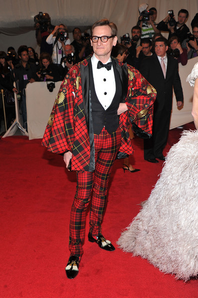 Hamish went all out at the Met Gala in a tartan suit with a Spanish inspired bolero cape.