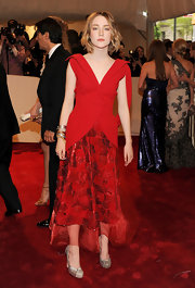Saoirse Ronan wore glittery round-toed Dixie pumps to the 2011 Met Gala.