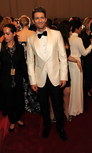 Matthew Morrison looked supremely dapper in a white and black suit for the Met Gala.