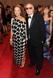 Diane Von Furstenberg looked perfectly playful at the Met Gala in an off-the-shoulder sequined evening gown.