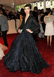 Crystal Renn was a drama queen in a black taffeta evening gown for the Costume Institute Gala.