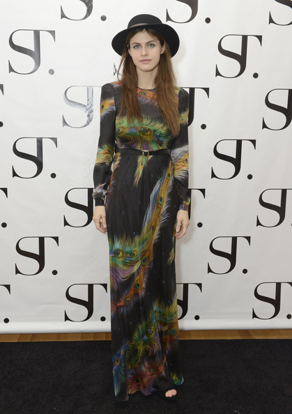 Alexandra Daddario Maxi Dress