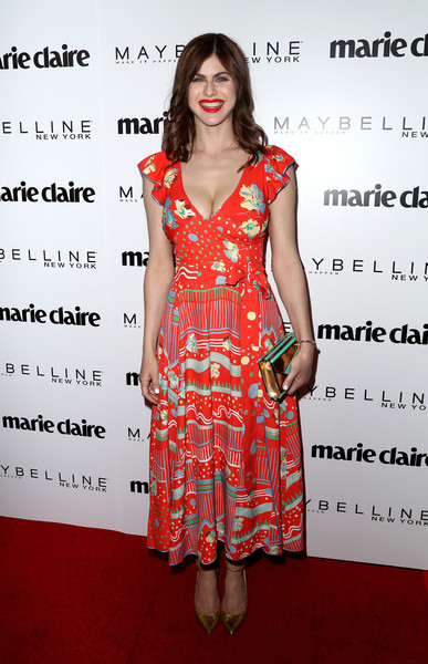 Alexandra Daddario Evening Pumps [clothing,fashion model,dress,cocktail dress,day dress,premiere,fashion,carpet,fashion design,red carpet,arrivals,marie claires,alexandra daddario,fresh faces,west hollywood,california,doheny room,maybelline,celebration,event]