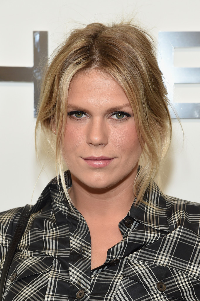 Alexandra Richards pulled her hair up into a messy-sexy 'do for the Michael