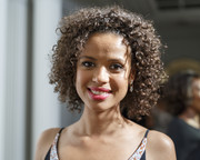 Gugu Mbatha-Raw attended Alfre Woodard's Oscar's Sistahs Soiree wearing her hair in cute tight curls.