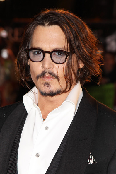 More Pics of Johnny Depp Medium Straight Cut (1 of 9) - Medium Straight Cut Lookbook - StyleBistro