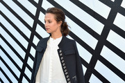 Alicia Vikander Military Jacket