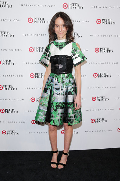 Alison Loehnis Print Dress [clothing,dress,hairstyle,fashion model,fashion,cocktail dress,shoulder,carpet,red carpet,premiere,peter pilotto,alison loehnis,new york city,target,a-porter,launch event]