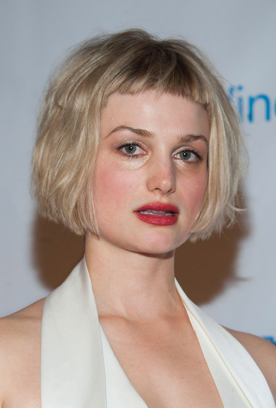 Alison Sudol Bob [universal music group,party,hair,face,blond,hairstyle,lip,chin,eyebrow,beauty,skin,bob cut,california,los angeles,the ace hotel theater,arrivals,alison sudol]
