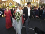 Alistair Cook exuded Old World elegance during his wedding in a black tailcoat.
