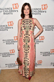 Betsy Brandt charmed in a floral-embroidered maxi dress during the Alliance for Children's Rights dinner.