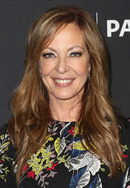 Allison Janney Long Wavy Cut [television show,hair,blond,hairstyle,human hair color,beauty,eyebrow,chin,long hair,layered hair,fashion model,mom,allison janney,arrivals,los angeles,dolby theatre,california,paley center for media,paleyfest,cbs]
