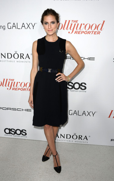 Allison Williams Pumps [dress,clothing,cocktail dress,little black dress,fashion model,fashion,footwear,shoulder,premiere,fashion design,arrivals,allison williams,west hollywood,california,soho house,hollywood reporter,emmy party,the hollywood reporter]