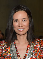 Wendy Deng looked her best with less makeup and her mid-length layers down at the Altuzarra Fall 2013 presentation.