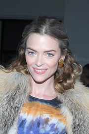 Jaime King wore an ultra-girly half-up style at the Altuzarra fashion show.