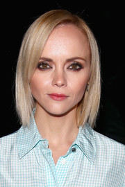 Christina Ricci was stylishly coiffed with this sleek bob at the Altuzarra fashion show.