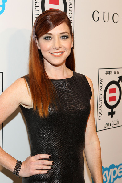 Alyson Hannigan Long Straight Cut [red carpet,hair,clothing,beauty,hairstyle,dress,little black dress,brown hair,smile,long hair,model,alyson hannigan,equality now presents ``make equality reality,equality now presents make equality reality,california,los angeles,montage hotel]