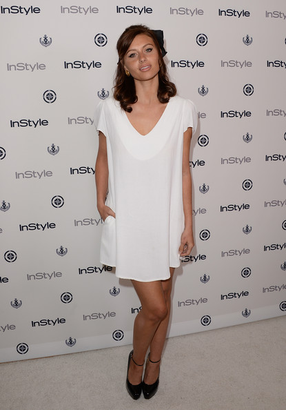 Alyson Michalka Cocktail Dress [aly michalka,clothing,white,dress,cocktail dress,shoulder,fashion,fashion model,joint,footwear,fashion design,instyle summer soiree - arrivals,instyle summer soiree,hotel,mondrian,west hollywood,california]